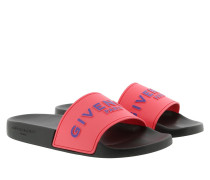 Schuhe Rubber Slide Sandals Black/Flamingo