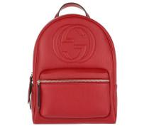 Soho Backpack Grained Hibiscus Red Rucksack rot