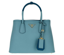 Shopping Bag Saffiano Cuir Sky Blue Tote