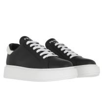 Sneakers Leather Nero/Bianco