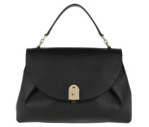Satchel Bag Sleek Medium Handle Black