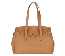 Tasche - Large Flap Over Shopping Bag Cognac