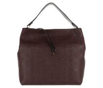 Klara Monogrammed Hobo Large Rustic Brown Bag