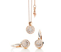 Halskette Dolcini Set with Diamonds Rose Gold
