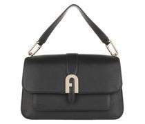 Satchel Bag Sofia Grainy Small Top Handle Nero
