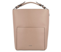Mina Grano Hobo Medium Nude Bag rosa