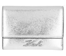 Portemonnaie Signature Met Flap Wallet Silver