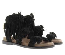 Sandalen - Mekita Sandal Suede Baby Silk Black Cocco