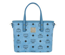Anya Shopper Top Zip Mini Light Blue Umhängetasche gold