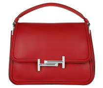 Small Double T Bag Red Satchel