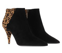 Boots Animal Point Ankle Booties Nero/Manto Naturale