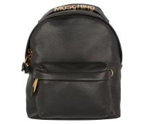 Grained Logo Backpack Black Rucksack