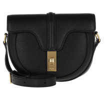 Umhängetasche Small Besace 16 Bag Grained Calfskin Black