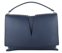 Tasche - View Knitted Handle Bag Large Blue