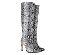 Boots & Stiefeletten Leather Snake Print