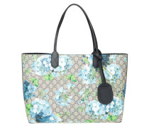 Reversible GG Leather Tote Beige Blue
