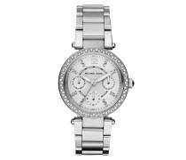 Armbanduhr - Mini Parker Pavé Silver-Tone Watch