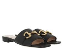 Sandalen Horsebit Low Sandal Slide Black