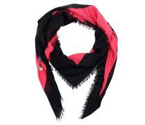 Mystic Cat Print Modal Silk Shawl Pink/Black Schal rosa