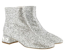 Pumps Glitter Fabric Booties Silver