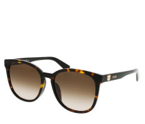 Sonnenbrille MOS074/F/S Sunglasses Dark Havana