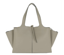 Tri-Fold Medium Shopper Grey Umhängetasche
