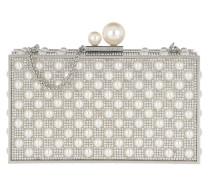 Clutch Clara Crystal Box Bag Silver & Pearl