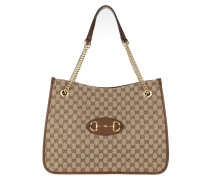 Tote Horsebit 1955 Large Bag Leather Beige Ebony