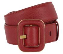 Belt Saffiano Red Gürtel rot