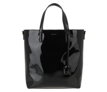 Tote Toy Shopping Bag Patent Leather Black