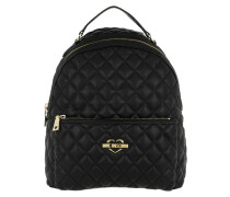Quilted Nappa Backpack Trapuntata Nero Rucksack