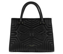 Vieira Quilted Bow Tote Bag Black