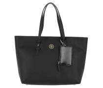 Signature Strap Tote Black