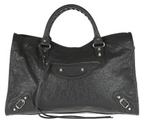 Buckle Detailed Tote Gris Fossile