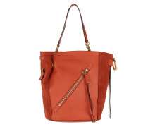 Myer Double Carry Medium Tote Sepia Red