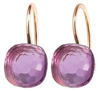 Ohrringe Earrings Happy Holi Pink Amethyst Cabochon Rosegold
