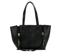 Tote Milo Shopping Piccola Smooth Suede Black