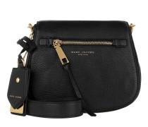 Recruit Small Saddle Shoulder Bag Black