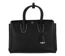Milla Studded Outline Tote Medium Black