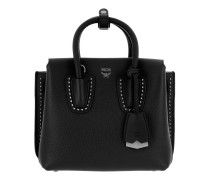 Milla Studded Outline Tote Mini Black