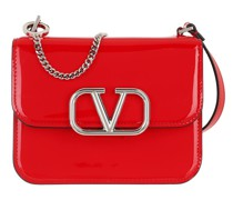 Umhängetasche V Sling Shoulder Bag Patent Leather Red