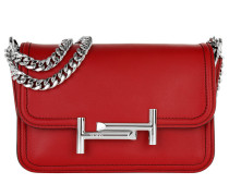 Mini Double T Bag Red Umhängetasche
