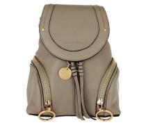 Polly Zip Detail Backpack Motty Grey Rucksack