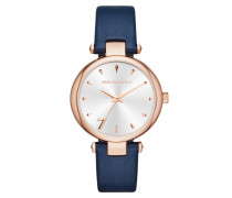 Aurelie Klassic Watch Blau Armbanduhr