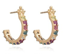 Ohrringe Statement Gemstone Hoop Earrings
