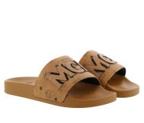 Schuhe W Visetos Patch Slide Cognac