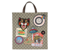 Medium Tote Bag With Patches Brown braun