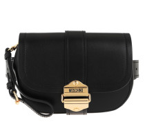 Gürteltasche Leather Belt Bag Black Fantasy Print