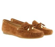 Sutton Mocassin Suede Luggage Schuhe