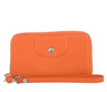 Kleinleder - Le Pliage Cuir Zip Around Wallet Small Orange
